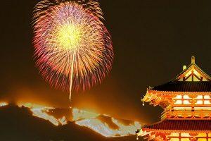 奈良の若草山の山焼き